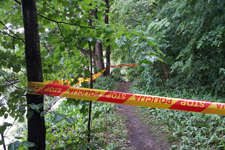Šilutėje be žinios dingusi senolė rasta žiauriai nužudyta ir paslėpta miške.<br>R.Žalgevičiaus nuotr.