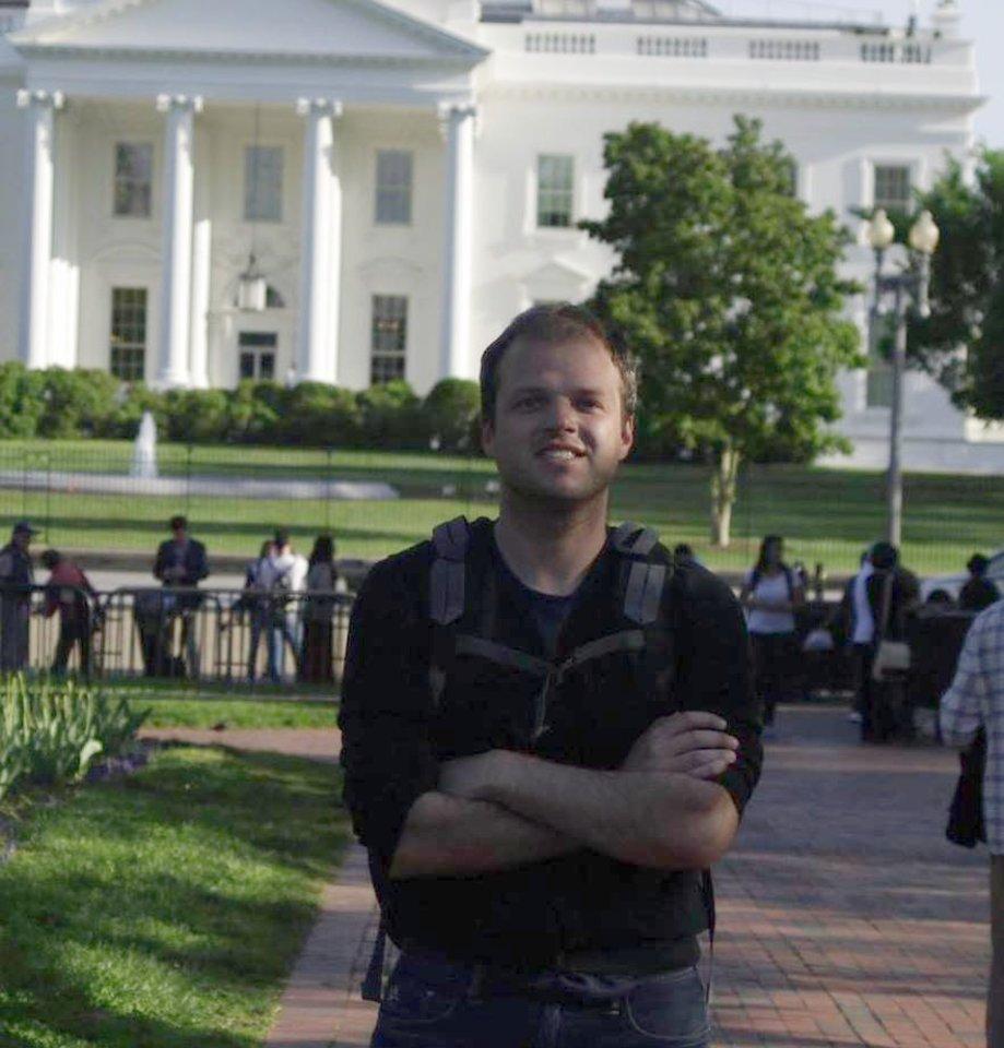 Donatas Vašingtone, prie Baltųjų rūmų.<br>Asmeninio archyvo nuotr.