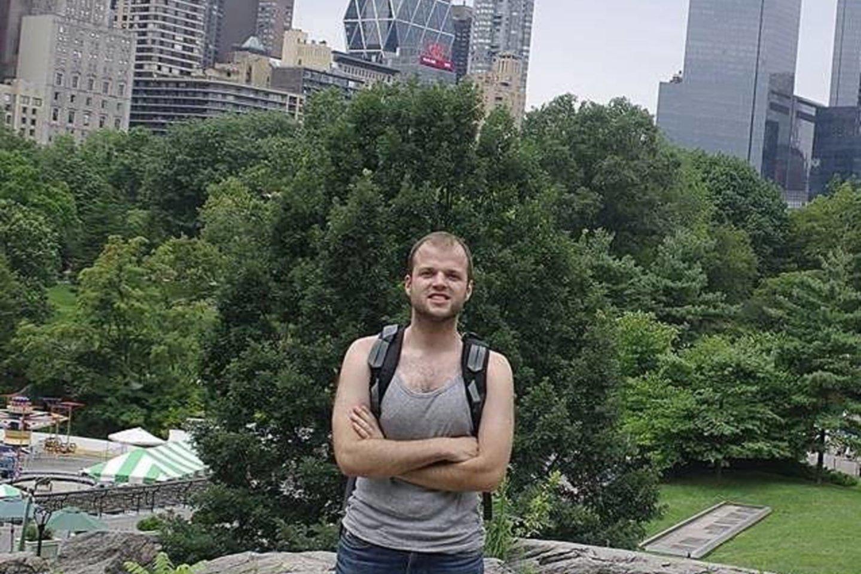 Architektas Niujorke, Manhatano parke, šalia dabartinio JAV prezidento namų.<br>Asmeninio archyvo nuotr.