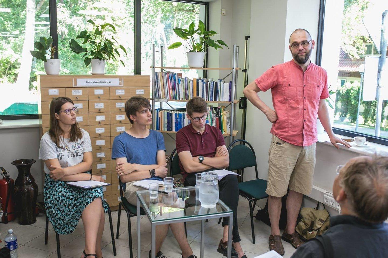 (Iš kairės): E.Dambrauskaitė, D.Lavrukaitis, T.Žukas ir L.Katkus.<br>Rengėjų nuotr.