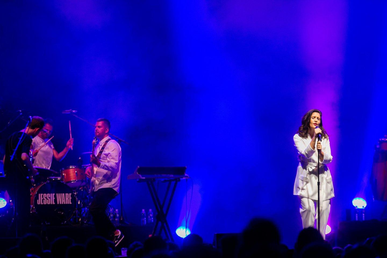 Prieš metus Jessie Ware koncertavo Trakuose.<br>T.Bauro nuotr.