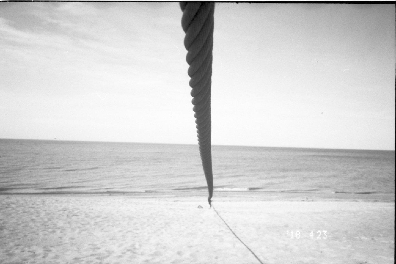 """Elijaus Kniežausko pirma kompozicija iš 4 darbų ciklo """"Vanduo""""."""