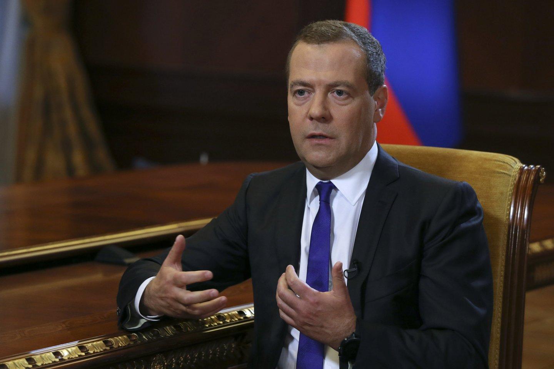 D.Medvedevas tikino priėmęs tinkamus sprendimus dėl įvykių Gruzijoje.<br>Sputnik/Scanpix nuotr.