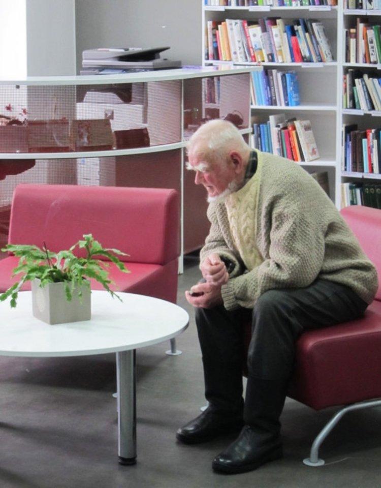Stasio Karanausko 90-metis pažymėtas Molėtų viešojoje bibliotekoje.<br>Asmeninio archyvo nuotr.