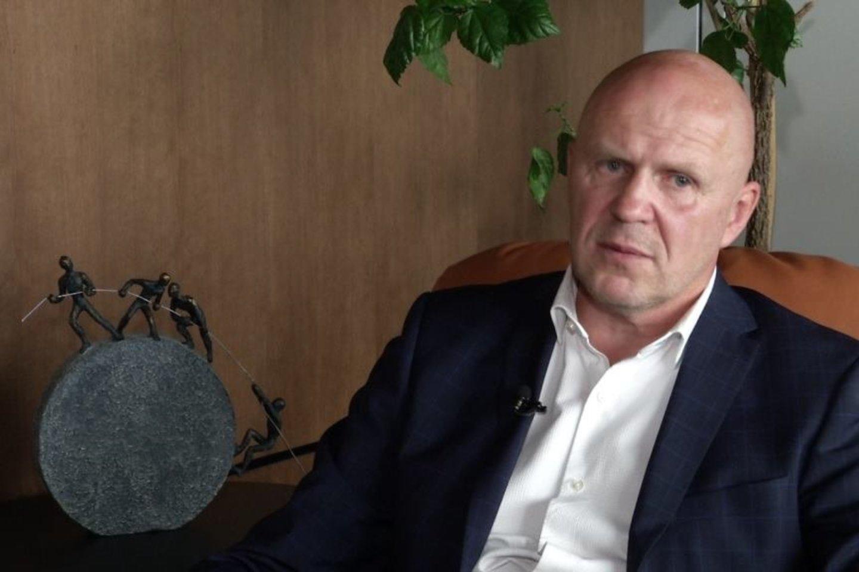 Buvęs L.Stankūnaitės advokatas Gintaras Černiauskas<br>Reportažo stop kadras.
