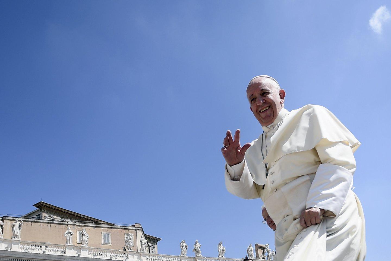 Kaip lrytas.lt sakė Vilniaus arkivyskupijos komunikacijos specialistė Santa Kančytė, popiežius Pranciškus, apsilankymo Lietuvoje metu, bus įkurdintas Apaštališkojoje nunciatūroje.<br>Scanpix/AFP nuotr.