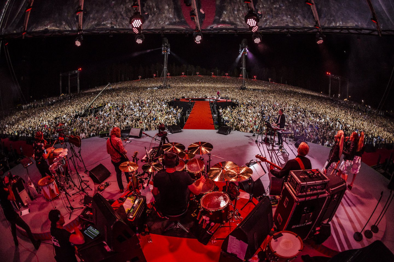 """""""BrainStorm"""" koncerto Rygoje akimirka.<br>Nuotr. iš grupės archyvo."""