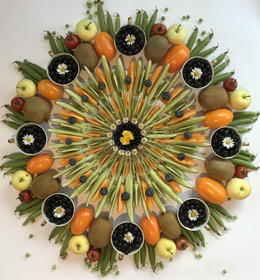 Maisto mandalos menininkui suteikia daug džiaugsmo.<br>Nuotr. iš asmeninio archyvo