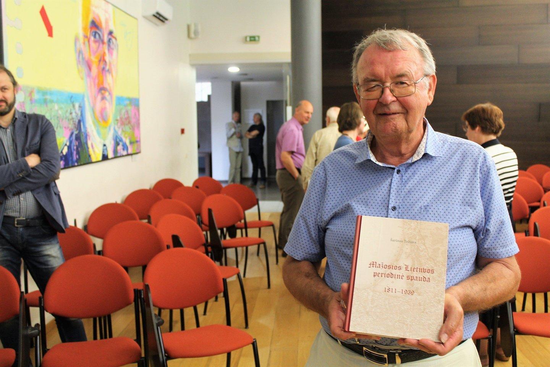 Š.Toliušis buvo ką tik pristatęs fundamentalų veikalą apie Mažosios Lietuvos periodiką.<br>G.Pilaičio nuotr.