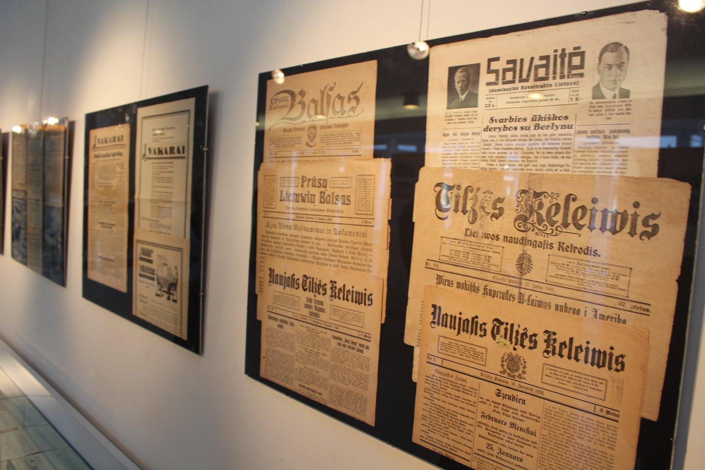 Mažojoje Lietuvoje spausdinti lietuviški laikraščiai.<br>G.Pilaičio nuotr.
