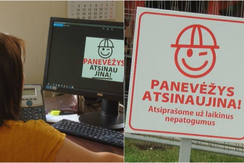 Panevėžio savivaldybės darbus reklamuos akį merkiantis žmogeliukas už beveik 10 tūkstančių eurų.