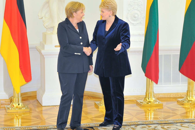 Angelos Merkel vizitas Lietuvoje.