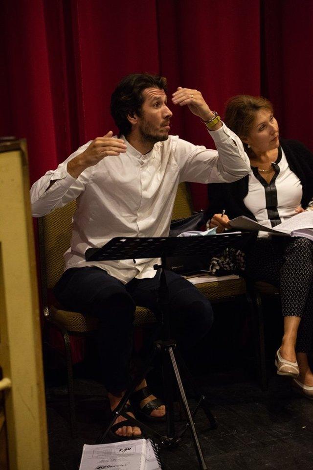 """Miuziklo """"Džekilas ir Haidas"""" repeticijų akimirkos.<br>Kauno muzikinio teatro nuotr."""