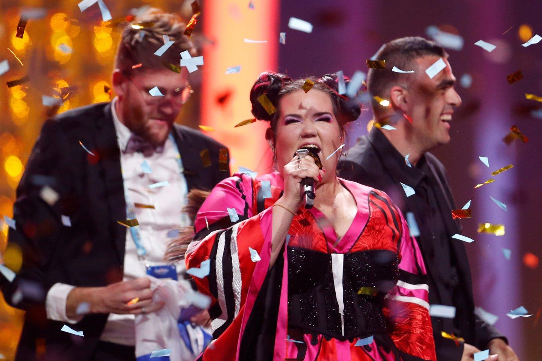 """""""Euroviziją"""" laimėjus dainininkei Nettai, jos tėvynėje Izraelyje verda ginčai dėl kitų metų konkurso.<br>""""Scanpix"""" / """"Reuters"""" nuotr."""