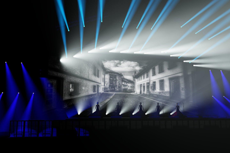 Koncerto scena atrodys įspūdingai.<br>Iliustracija iš grupės archyvo.