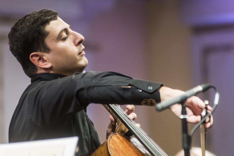 Koncerto akimirka:N.Hakhnazaryanas.<br>D.Matvejevo nuotr.