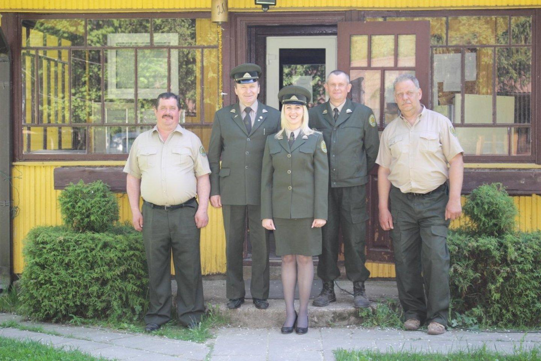 Božena su kolegomis Vilniaus MU.<br>Asmeninio archyvo nuotr.