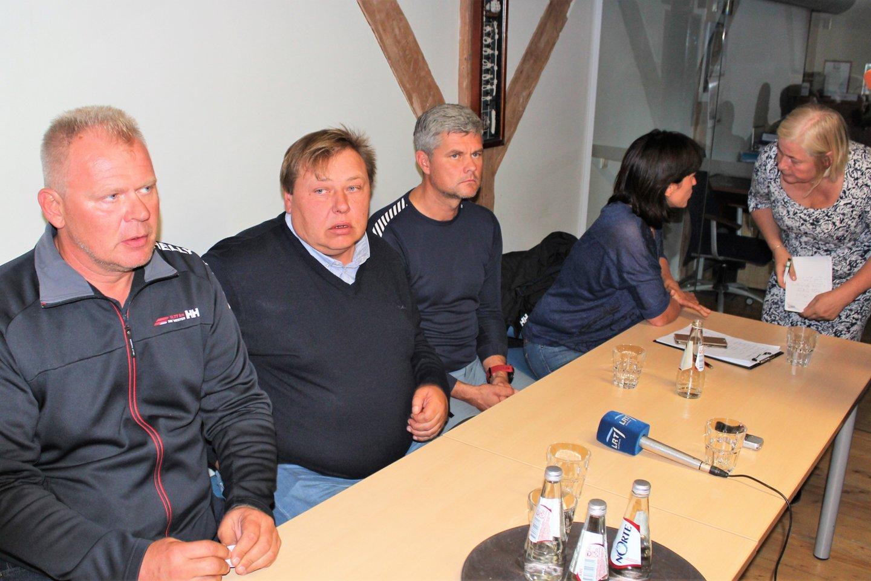"""Klubo """"Ostmarina"""" spaudos konferencija.<br>G.Pilaičio nuotr."""
