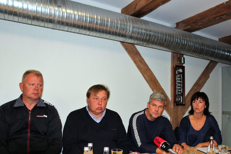 """Sporto klubo """"Ostamarina"""" spaudos konferencija.<br>G.Pilaičio nuotr."""