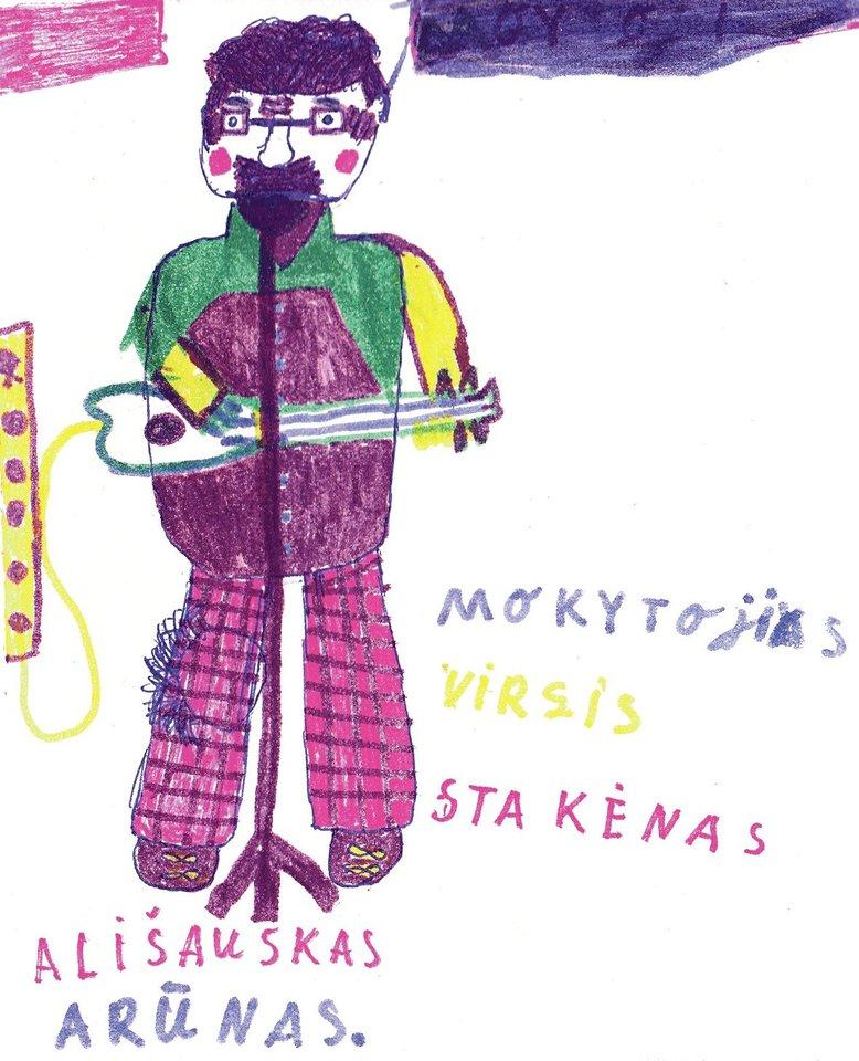 V.Stakėnas iki šiol saugo buvusių mokinių piešinius.