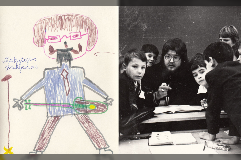 Po studijų V.Stakėnas gavo paskyrimą dirbti į Šiaulių 1-ąją pagalbinę mokyklą-internatą. Jis iki šiol saugo buvusių mokinių piešinius.<br>A.Ostašenkovo, asmeninio albumo nuotr.