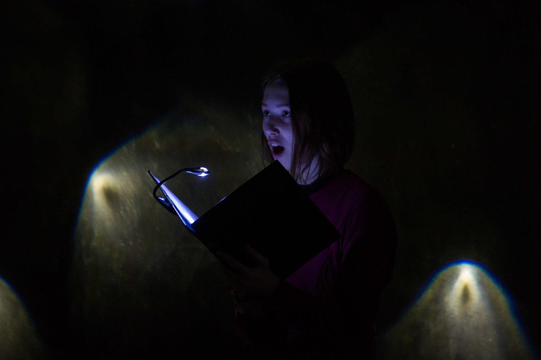 """Audiovizualinis kūrinys """"Vandenys"""" tik vieną dieną buvo atliekamas Liepkalnio vandens saugykloje.<br>M.Ambrazo nuotr."""