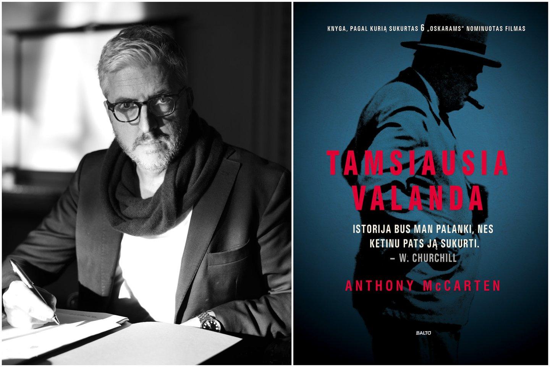"""Filmo """"Tamsiausia valanda"""" scenarijaus ir to paties pavadinimo knygos autorius – rašytojas Anthony McCartenas.<br>Leidėjų nuotr."""