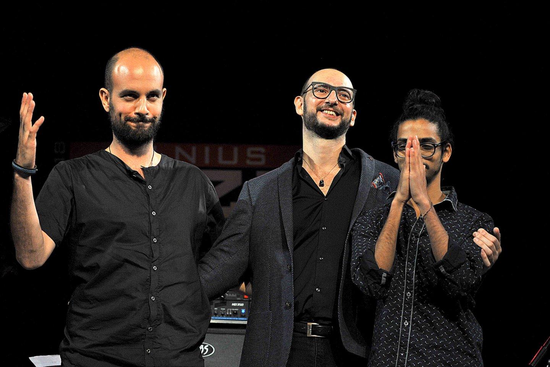"""Sh.Maestro (pirmas iš kairės) trio festivalyje""""Vilnius Jazz"""".<br>V.Suslavičiaus nuotr."""