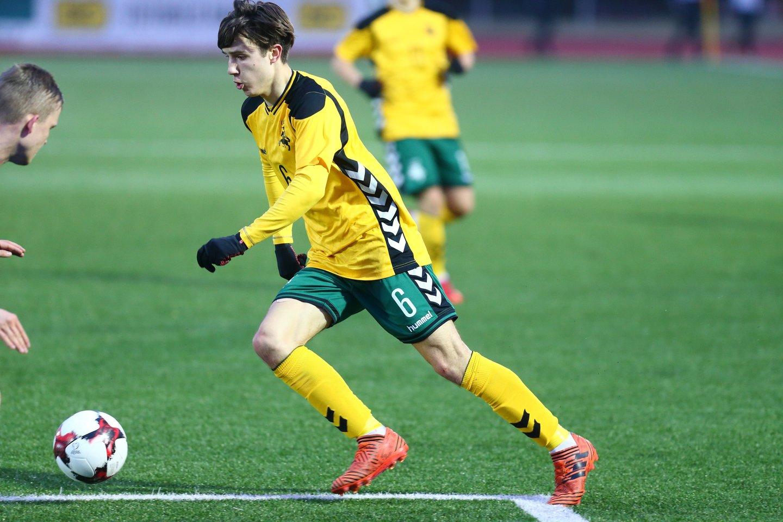 Lietuvos futbolininkas Titas Milašius<br>LFF nuotr.