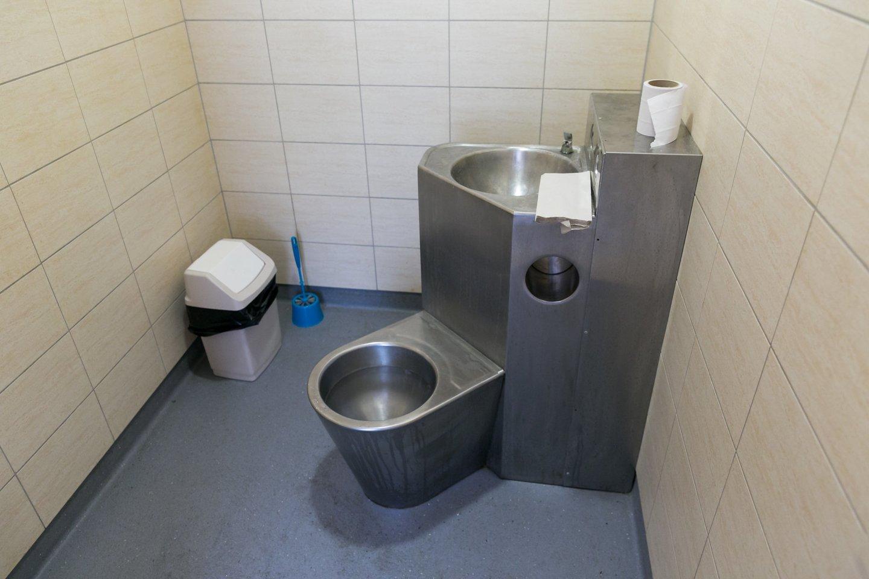 Respublikinės Vilniaus psichiatrijos ligoninės Ūmių psichozių palatos sanitarinis mazgas.<br>T.Bauro nuotr.