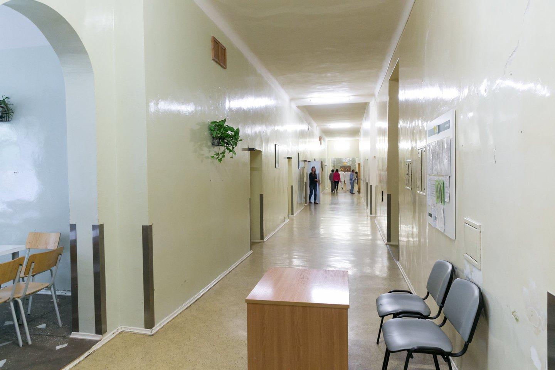 Respublikinės Vilniaus psichiatrijos ligoninės koridorius.<br>T.Bauro nuotr.