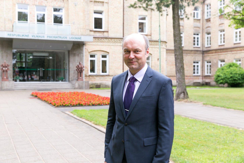 Respublikinės Vilniaus psichiatrijos ligoninės direktorius profesorius dr. Arūnas Germanavičius.<br>T.Bauro nuotr.