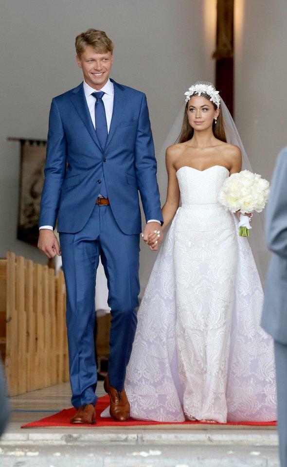 Mindaugo Kuzminsko ir Eglės Andreikaitės vestuvės.<br>R.Danisevičiaus nuotr.