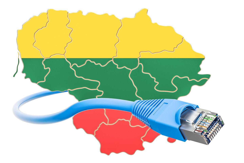 Galime pasidžiaugti, kad Lietuvoje kompiuterizacija ir interneto plėtra plėtojosi ypač sparčiai.<br>123RF iliustr.