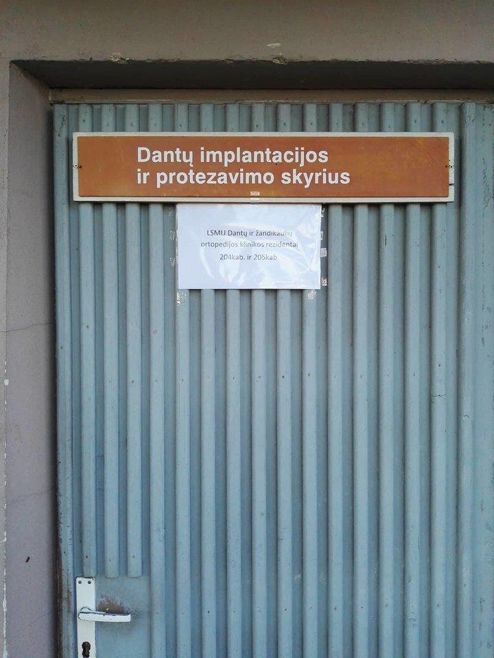 """Smūgis būsimiems odontologams Kaune ir grasinimas dėl """"didesnių bėdų"""". <br>LSMU studentų nuotr."""