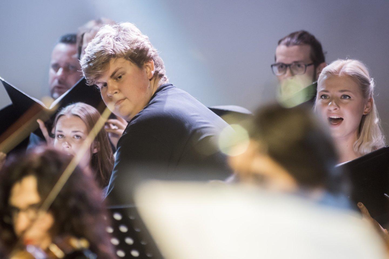 Ph.Niblocko, M.Lindbergo ir J.Wolfe kūrinių koncertas: perkusininkas A.Rekašius.<br>D.Matvejevo nuotr.