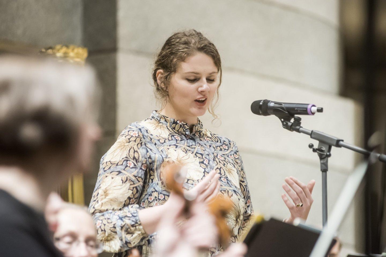 """Gaidos"" koncerto akimirka: E.Sirvydytė.<br>D.Matvejevo nuotr."