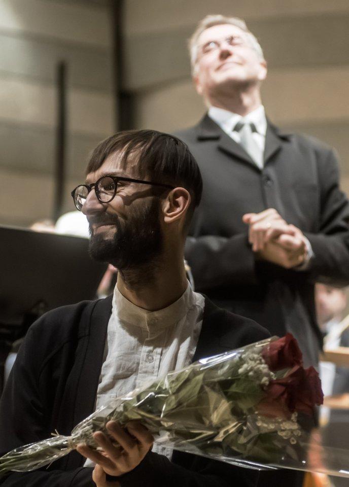 """Gaidos"" koncerto akimirka: A.Navickas.<br>D.Matvejevo nuotr."