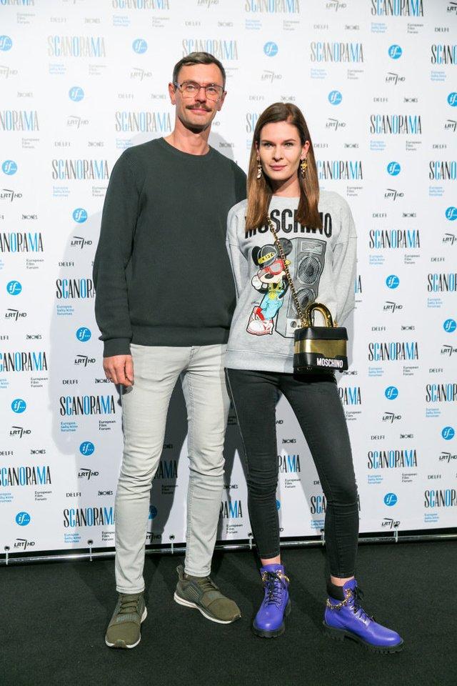 Stilistė Austėja Jablonskytė (nuotr. su vyru Justinu Žaliu).<br>T.Bauro nuotr.