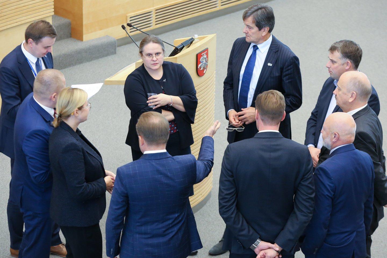 A. Širinskienė ir jos vadovaujamo tyrimo komisijos nariai.