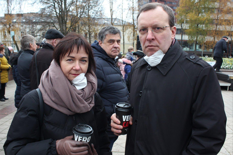 Politikai Nika ir Naglis Puteikiai.<br>G.Pilaičio nuotr.
