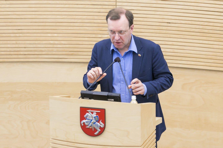Seimo narys Naglis Puteikis.<br>T.Bauro nuotr.