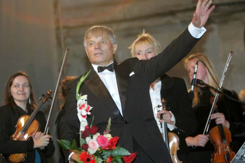 Kauno valstybinio choro meno vadovas ir vyriausiasis dirigentas P.Bingelis.<br>A.Barzdžiaus nuotr.