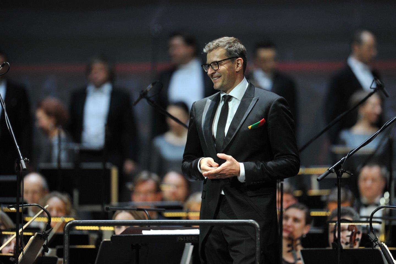 M.Pitrėnas dalyvavo šventiniame koncerte Latvijos nacionaliniame operos ir baleto teatre Rygoje.<br>Organizatorių nuotr.