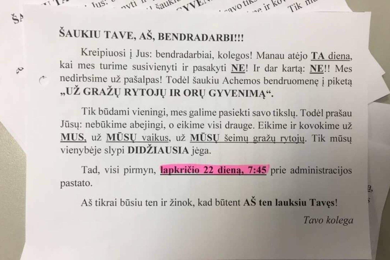 Jonavoje buvo platinami kvietimai prisijungti prie protesto akcijos.<br>Nuotr. iš LR archyvo.
