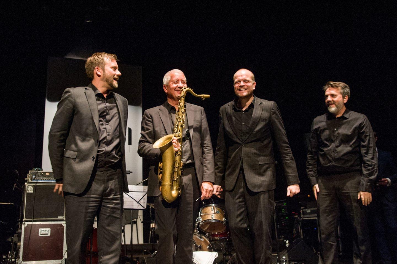 """Andy Sheppardas ir """"Espen Eriksen Trio"""".<br>V.Suslavičiaus nuotr."""
