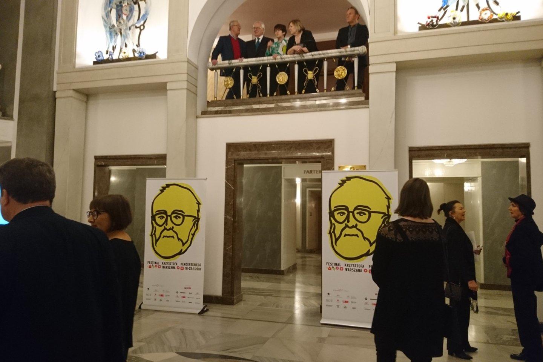 K.Pendereckio muzikos festivalis įžengė ir į Varšuvos didįjį teatrą.<br>A.Andrikonytės nuotr.