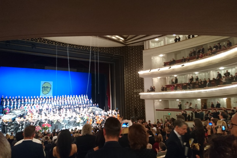 K.Pendereckio jubiliejinio koncerto finalas.<br>A.Andrikonytės nuotr.