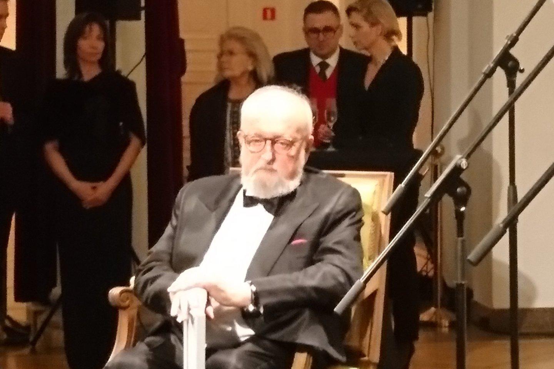 K.Pendereckiui per 85-ąjį gimtadienį teko išklausyti daug šlovinamųjų kalbų.<br>A.Andrikonytės nuotr.