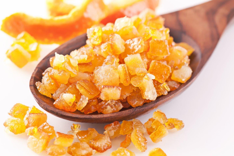 Apelsinų žievelių cukatos.<br>123rf nuotr.